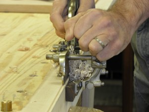 Steve Fromholtz making furniture